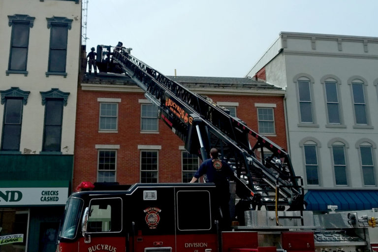 Firefighters Remove Potential Safety Hazard From Downtown