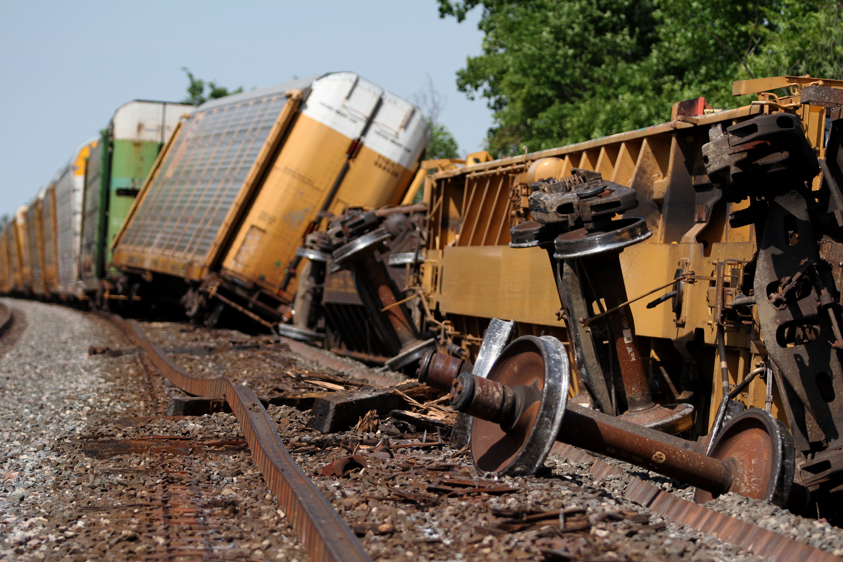 Train Derails Near Crestline Crawford County Now