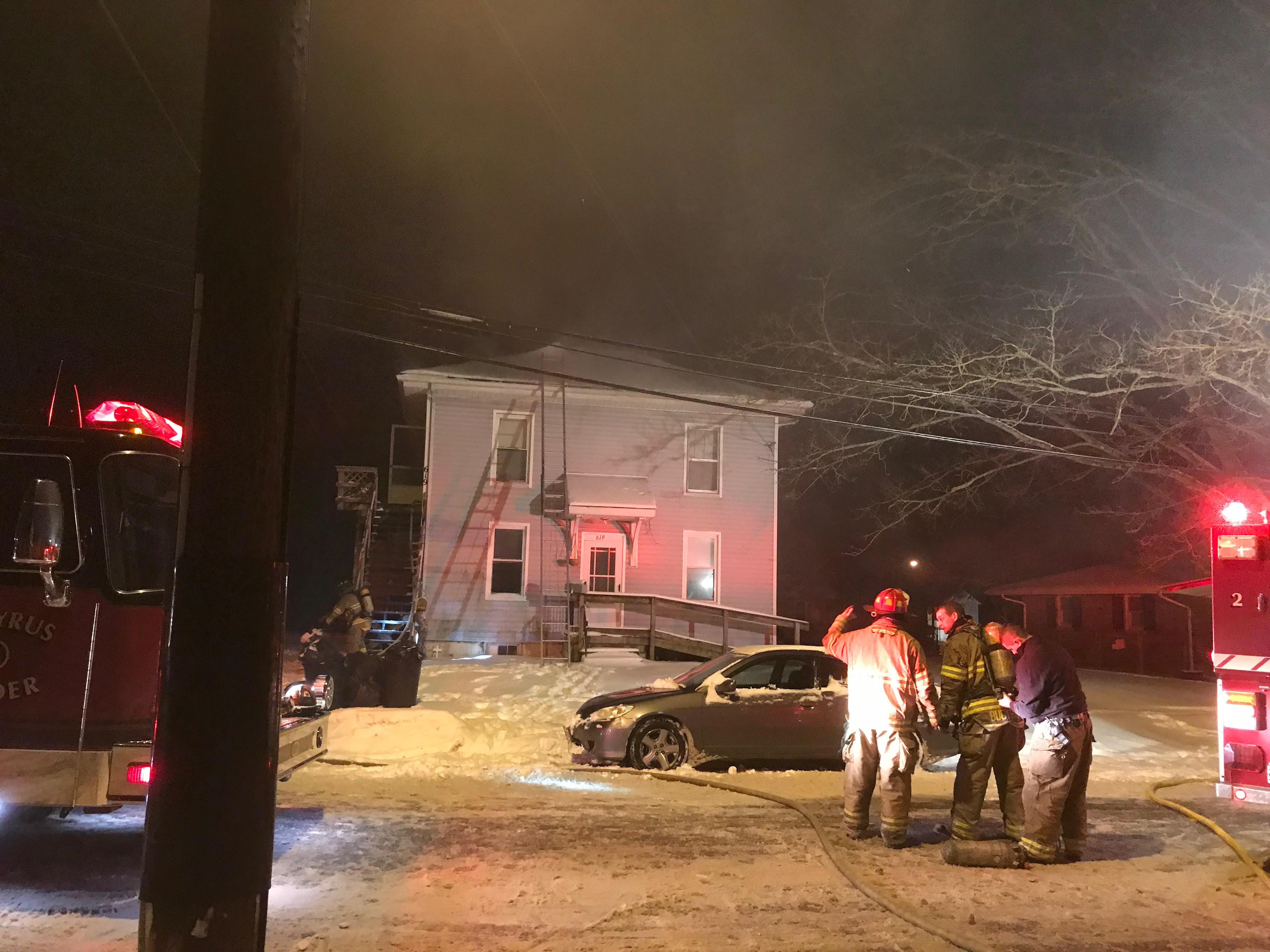 Apartment Fires Moke Fuse Box Electrical Drawing Wiring Diagram Fire Bucyrus Firefighters Battle Second Structure Monday Night Rh Crawfordcountynow Com Auto Marine