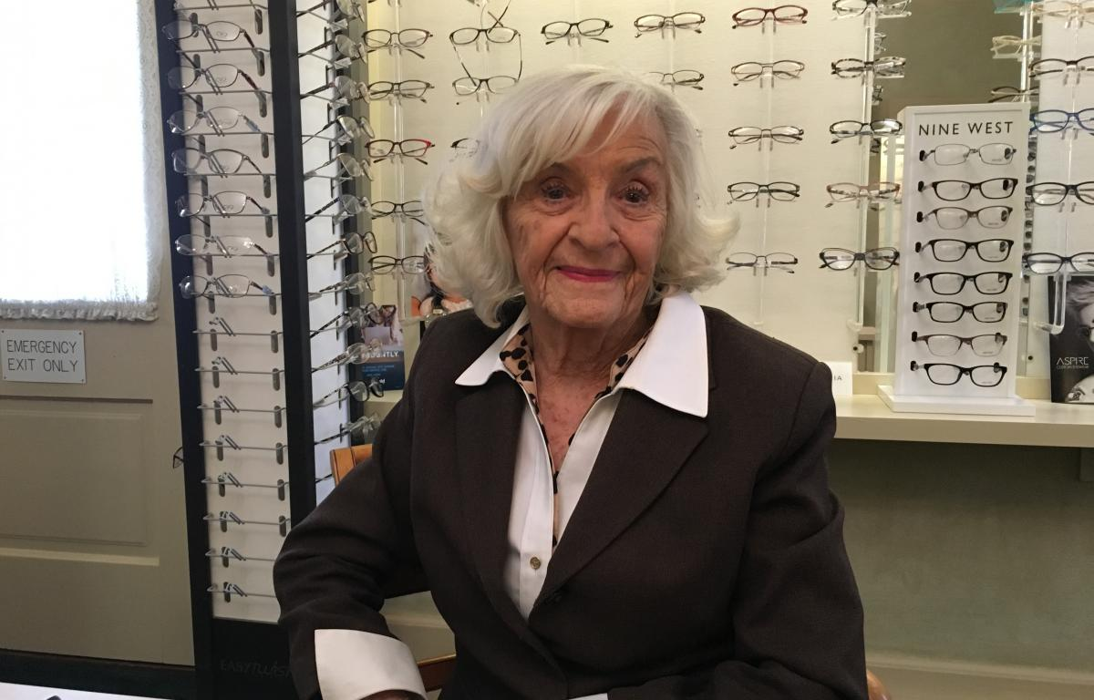 """87226346117 Crawford County NowRhonda DavisGenevieve """"Vee"""" TyRee has worked at Family Eye  Care in Galion for more than 50 years."""